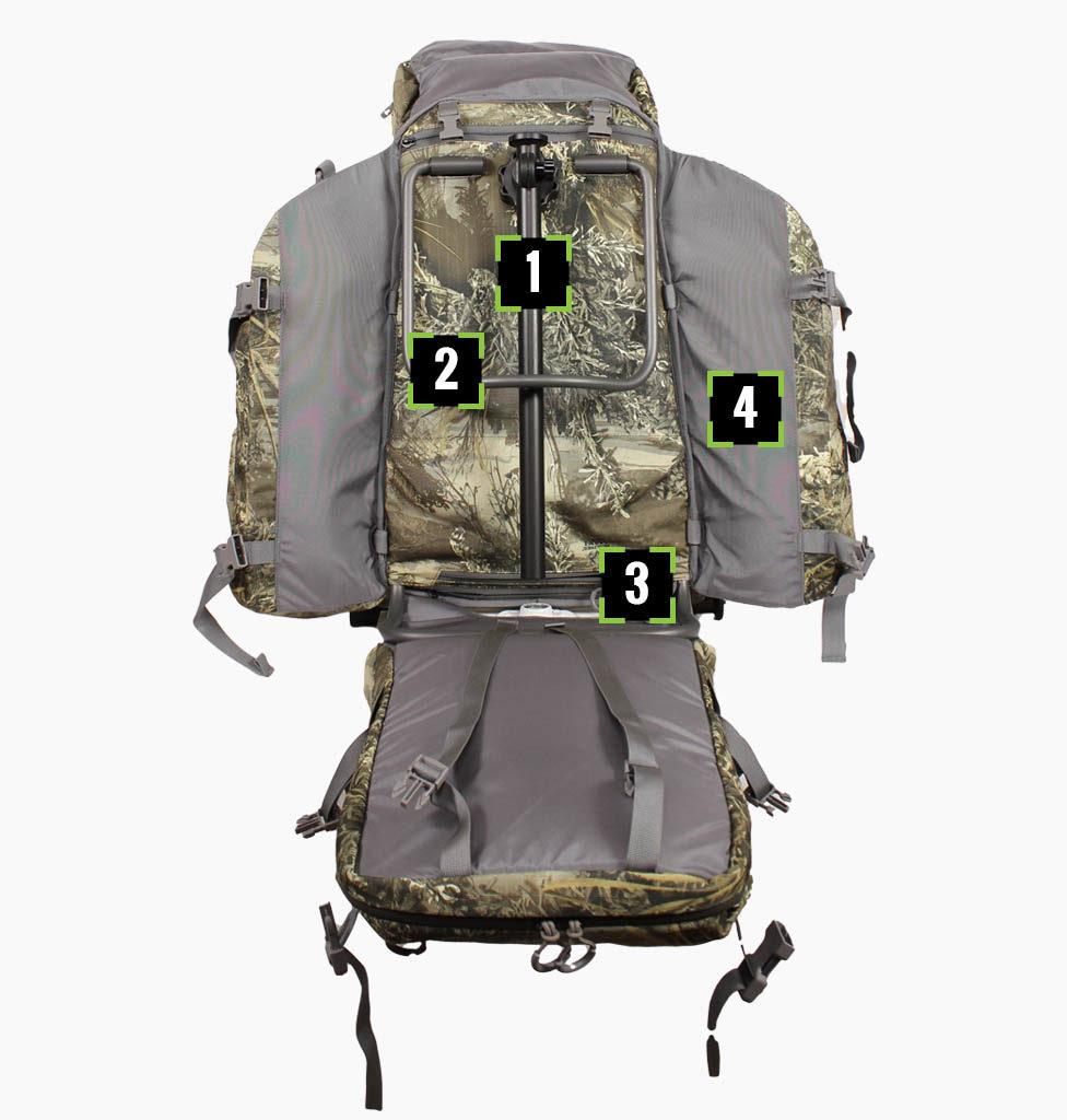 pro hunter hunt hard gear - External Frame Hunting Backpack